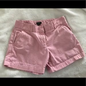 J. Crew Low Fit Pink Shorts